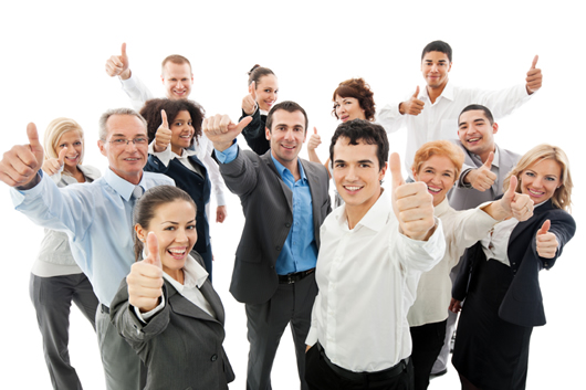 successful-business-people-showing-thumbs-up-530x353